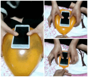 μπαλόνι σε θήκη για smartphone