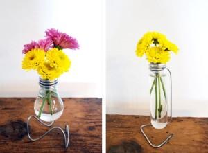 Βάζα-Λάμπες με λουλούδια