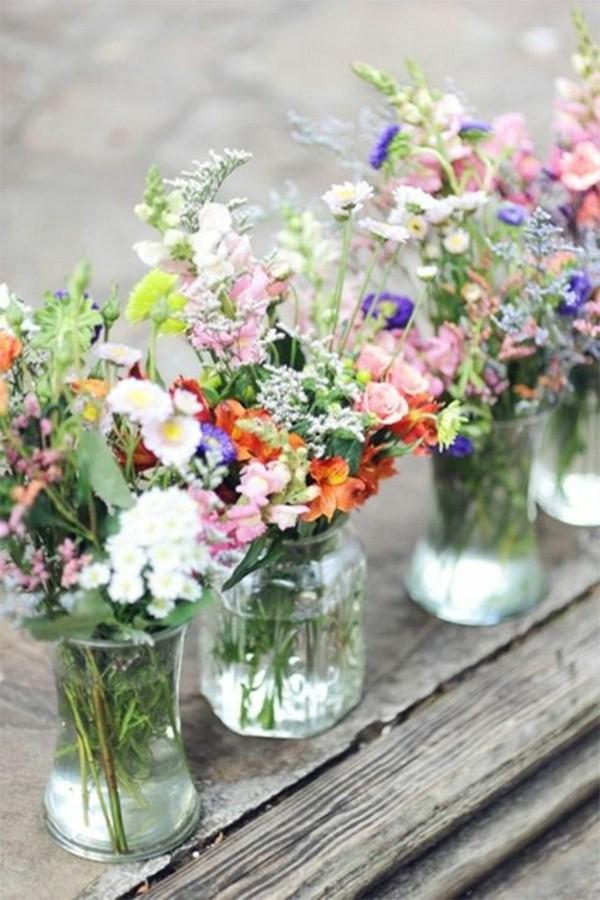 Εκπληκτικές ιδέες διακόσμησης με λουλούδια για το γάμο σας2