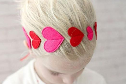 Ιδέες για Αξεσουάρ μαλλιών για Valentine's Day