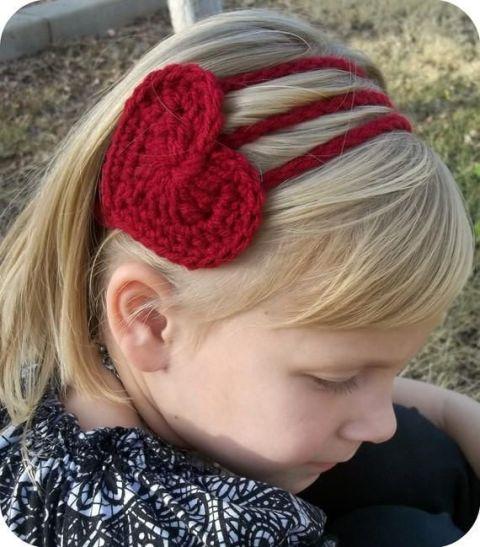 Ιδέες για Αξεσουάρ μαλλιών για Valentine's Day7