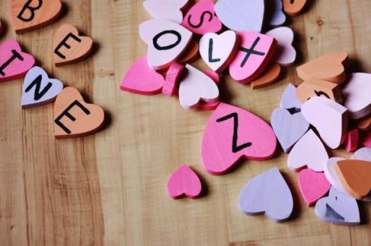 Ξύλινες Καρδούλες για τα παιδιά (γράμματα)