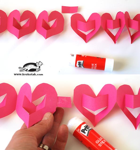 3D καρδιές γιρλάντα4