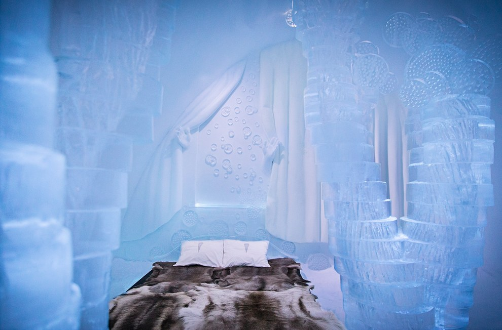 The Icehotel in Jukkasjärvi bedroom1