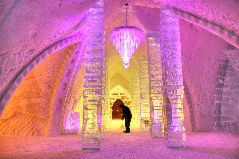 The Icehotel in Jukkasjärvi outdoor