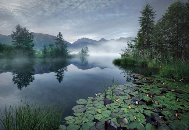 Ομίχλη στη λίμνη