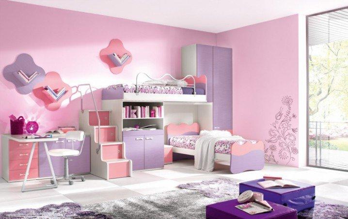 Σχέδια Παιδικού Δωμάτιου για δύο κορίτσια10