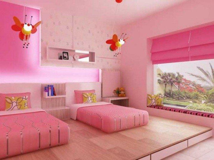 Σχέδια Παιδικού Δωμάτιου για δύο κορίτσια8