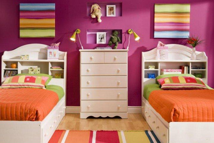 Σχέδια Παιδικού Δωμάτιου για δύο κορίτσια9