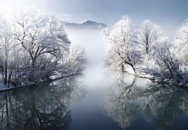 Χιονισμένο ποτάμι