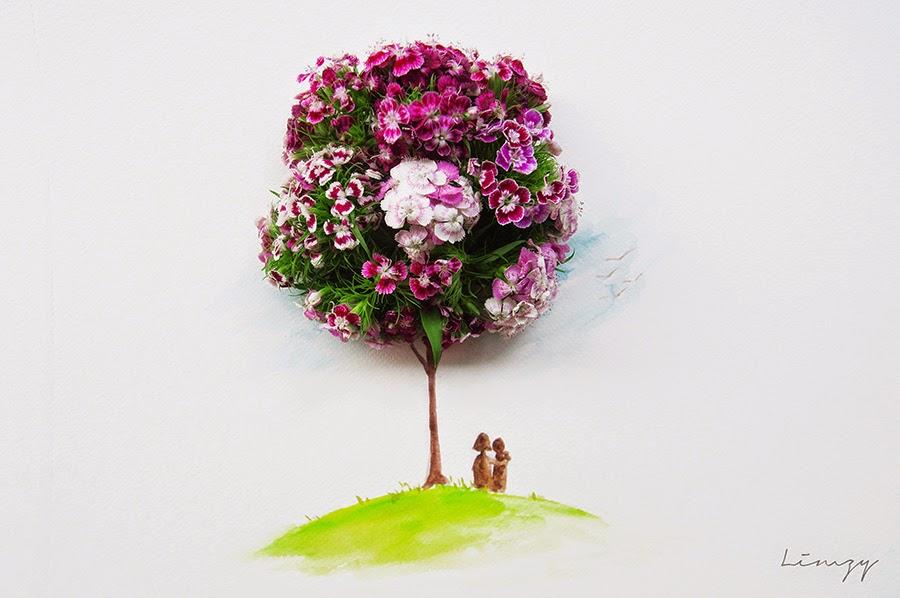 Υπέροχη τέχνη με λουλούδια14