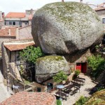 A town built among boulders in Mt. Monsanto, Portugal