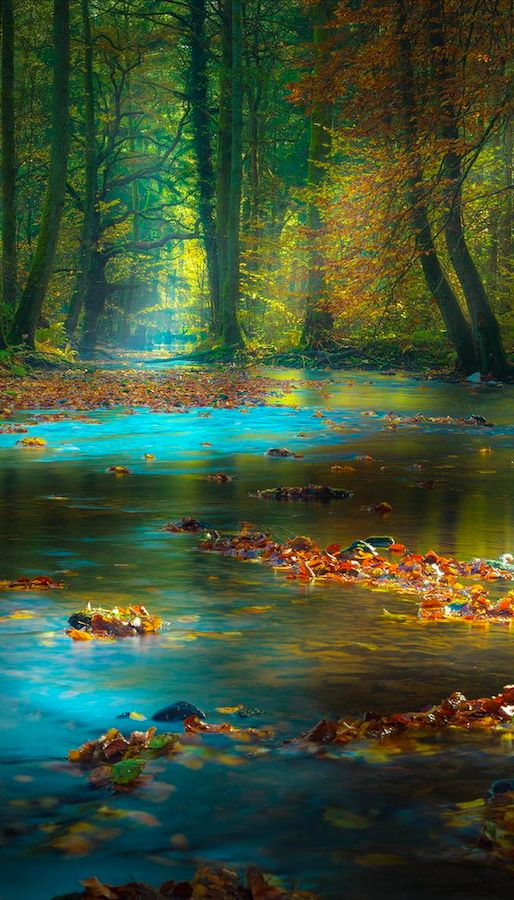 Magic light in the Spessart Mountains of Bavaria, Germany