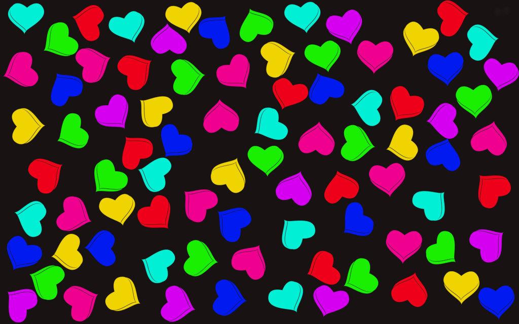 Πολύχρωμες 3d Ταπετσαρίες Αγάπης1