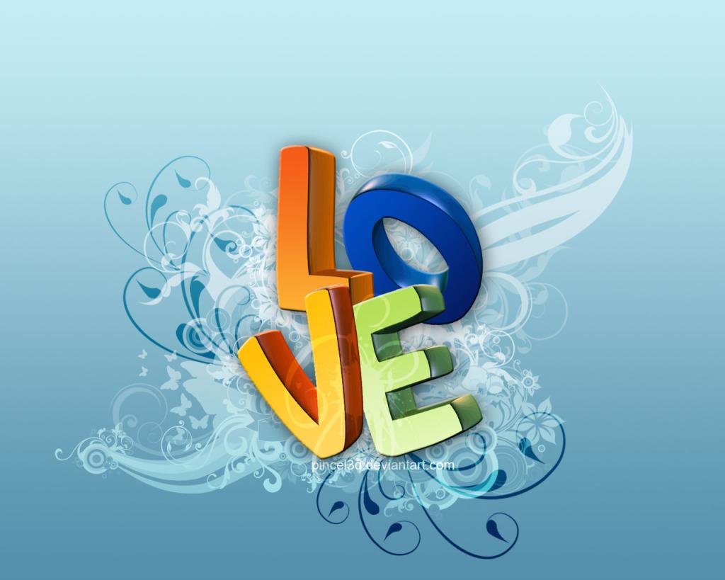 Πολύχρωμες 3d Ταπετσαρίες Αγάπης6