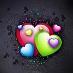 Πολύχρωμες 3d Ταπετσαρίες Αγάπης8