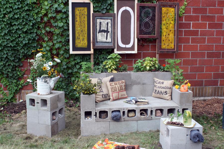 DIY Υπαίθριος Καναπές από μπλόκα7