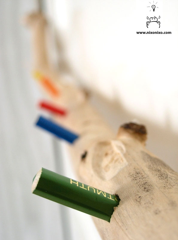 Diy κρεμάστρα με μολύβια6