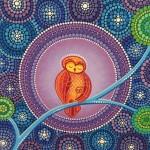 Ζωγραφισμένο βότσαλο με πουλί