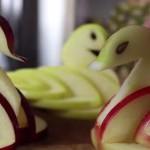 Κύκνοι από μήλα