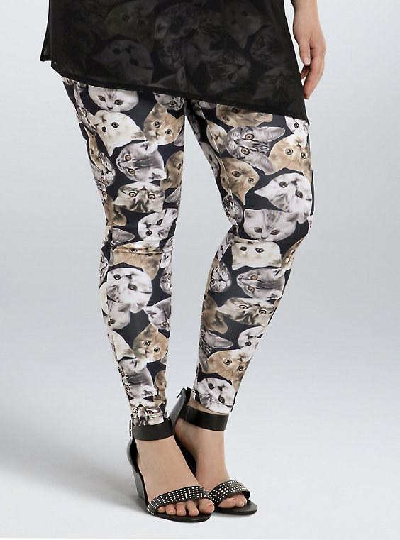 cat print leggings