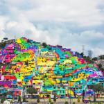 Μεξικάνικη γειτονιά μετατρέπετε σε μια τεράστια τοιχογραφία ουράνιου τόξου 1
