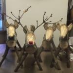 DIY Ρουστίκ Τάρανδοι από κορμούς ξύλου