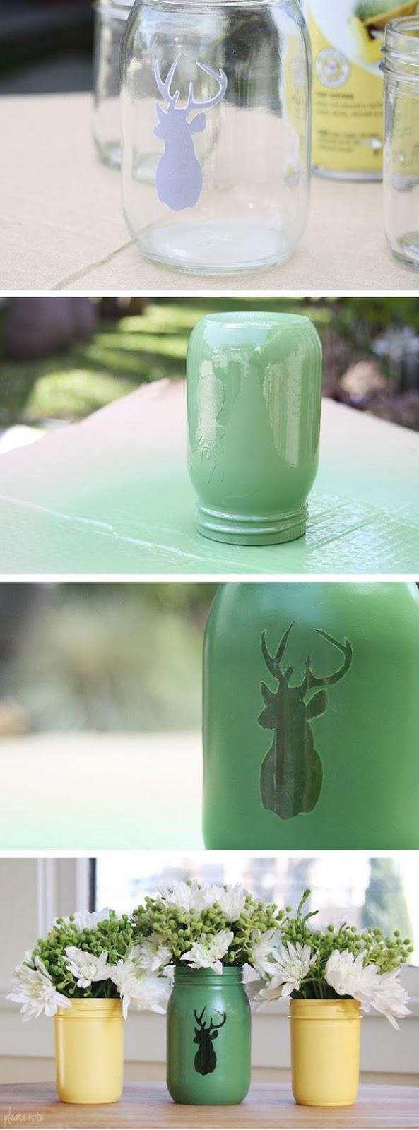 Διακοσμήστε γυάλινα μπουκάλια και βάζα με στυλ16