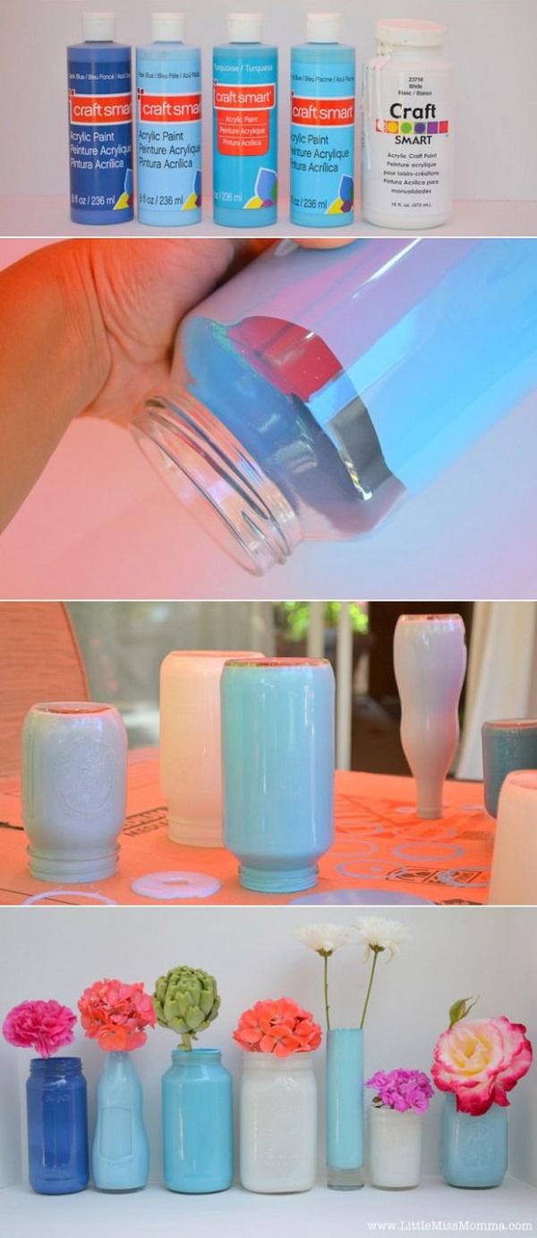 Διακοσμήστε γυάλινα μπουκάλια και βάζα με στυλ2