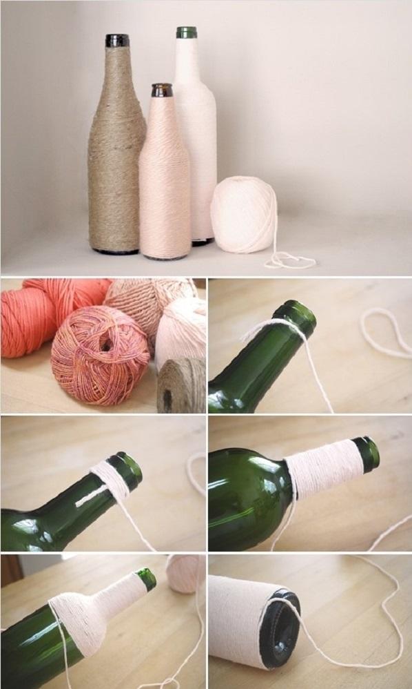 Διακοσμήστε γυάλινα μπουκάλια και βάζα με στυλ3