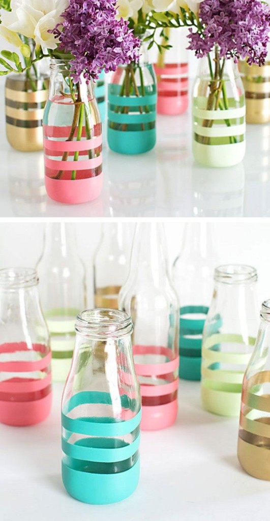 Διακοσμήστε γυάλινα μπουκάλια και βάζα με στυλ4