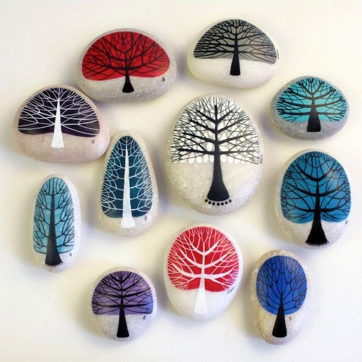ιδέες τέχνης με πέτρες και βότσαλα4