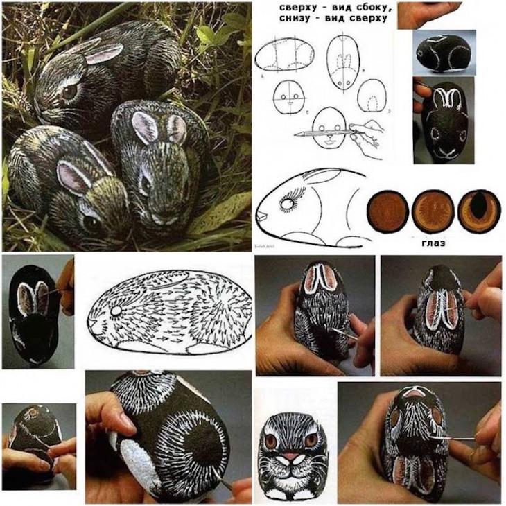 ιδέες τέχνης με πέτρες και βότσαλα8