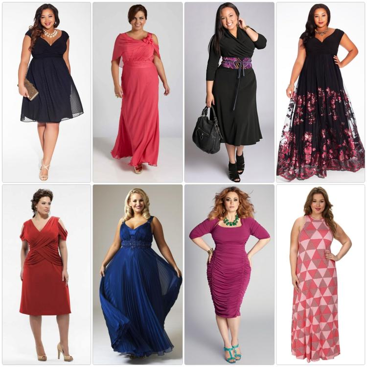 Φορέματα σε μεγάλα μεγέθη - μόδα για γυναίκες με καμπύλες1