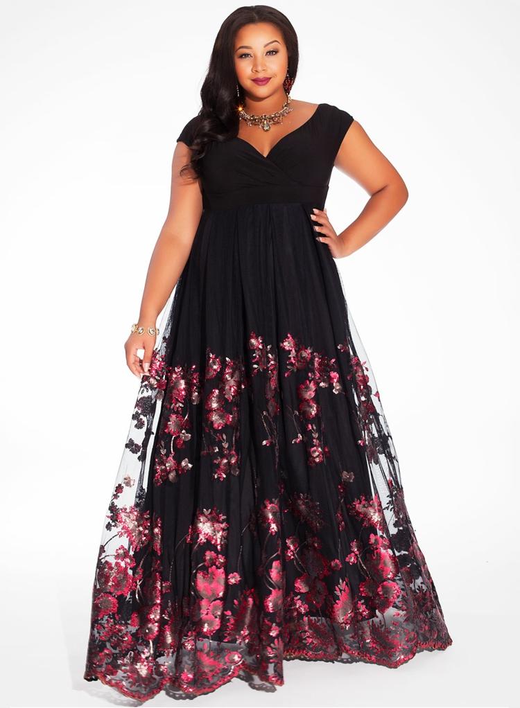 Φορέματα σε μεγάλα μεγέθη - μόδα για γυναίκες με καμπύλες19