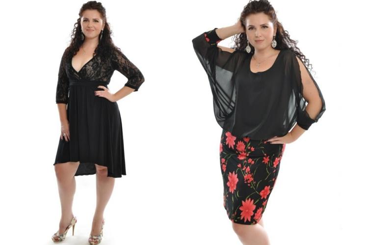 Φορέματα σε μεγάλα μεγέθη - μόδα για γυναίκες με καμπύλες36