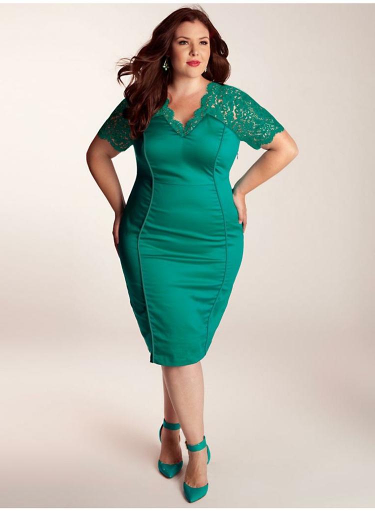 Φορέματα σε μεγάλα μεγέθη - μόδα για γυναίκες με καμπύλες38
