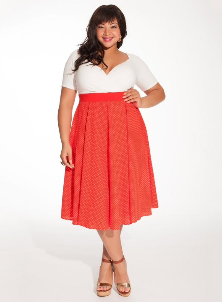 Φορέματα σε μεγάλα μεγέθη - μόδα για γυναίκες με καμπύλες8