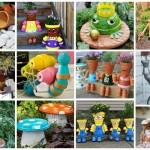 διασκεδαστικές κατασκευές με γλάστρες για τον κήπο