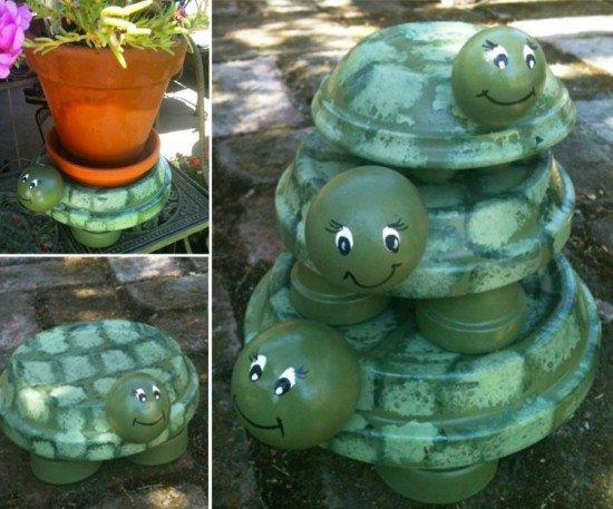 διασκεδαστικές κατασκευές με γλάστρες για τον κήπο1