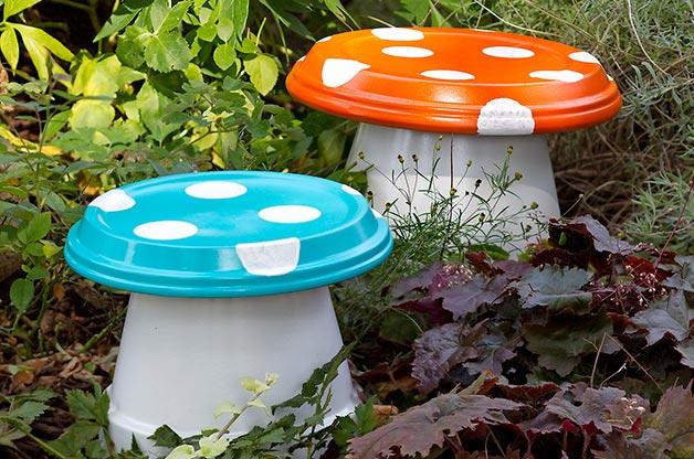 διασκεδαστικές κατασκευές με γλάστρες για τον κήπο13