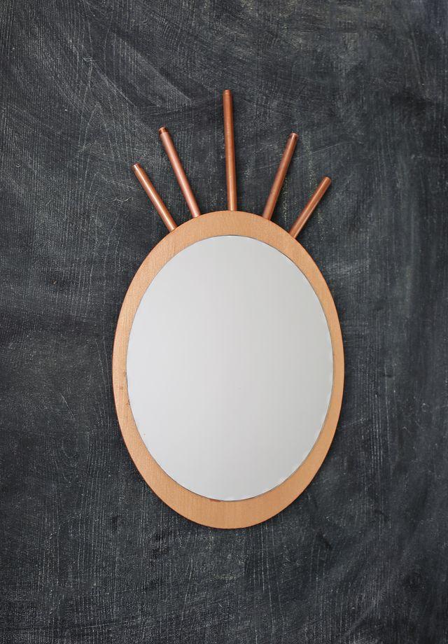 DIY καθρέφτης από χαλκοσωλήνα και ξύλο1