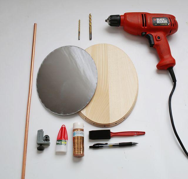 DIY καθρέφτης από χαλκοσωλήνα και ξύλο3