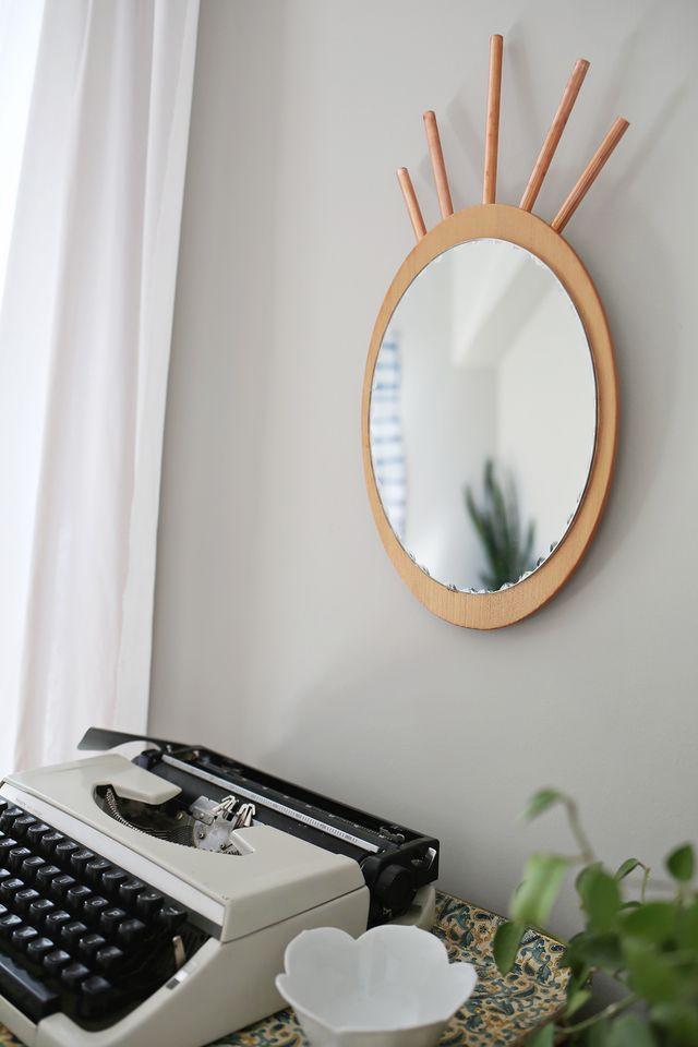 DIY καθρέφτης από χαλκοσωλήνα και ξύλο9