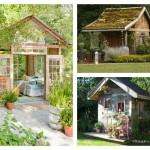 μικρό σπιτάκι κήπου ιδέες