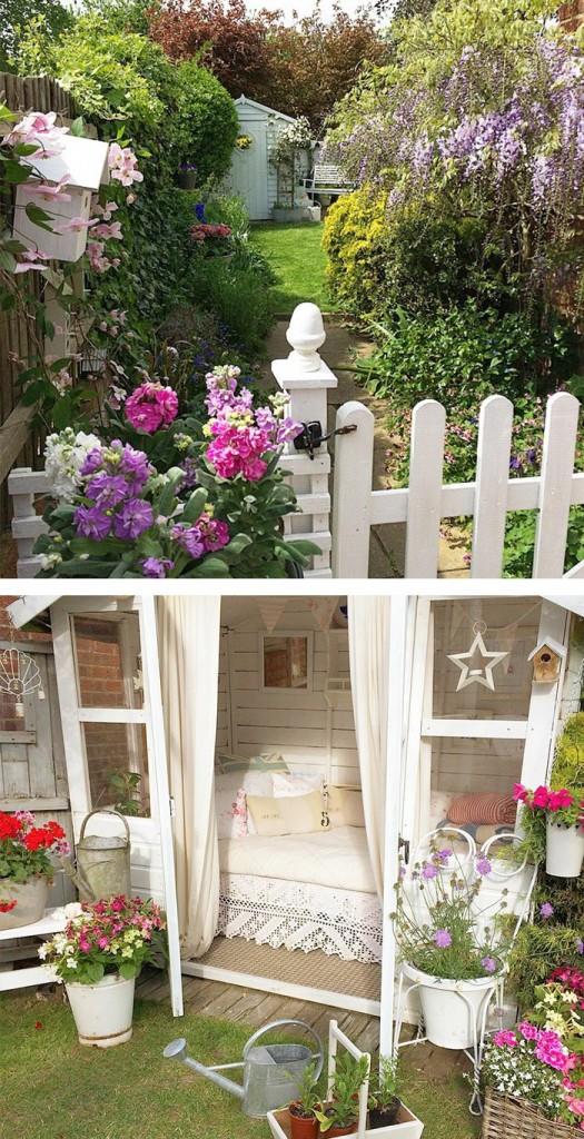 μικρό σπιτάκι κήπου ιδέες13