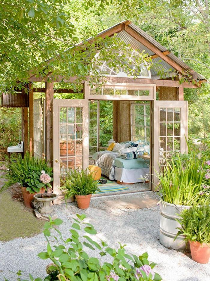 μικρό σπιτάκι κήπου ιδέες17