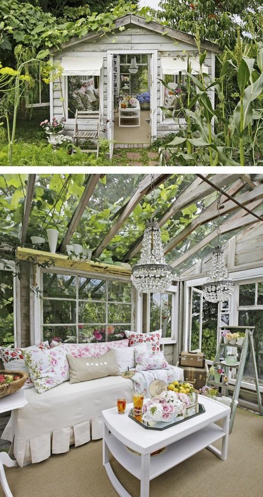 μικρό σπιτάκι κήπου ιδέες2