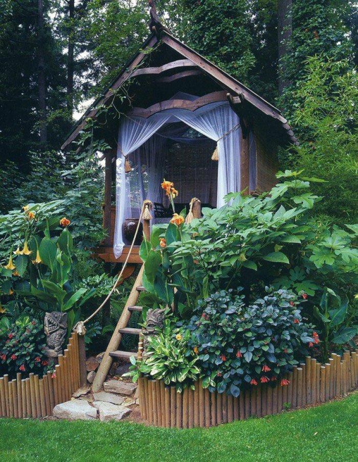μικρό σπιτάκι κήπου ιδέες8