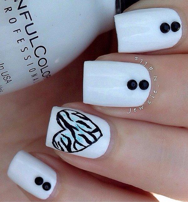 Ιδέες τέχνης νυχιών σε λευκό18